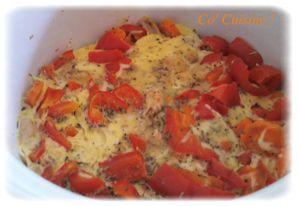 clafoutis au poivron, carotte et thon (2)