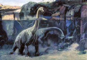 Charles Knight - Snorkelling Brachiosaurus, 1957