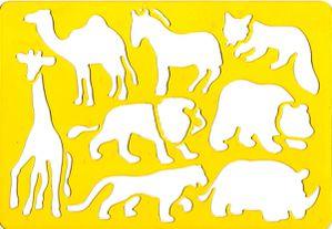 Plaque pochoirs jaune