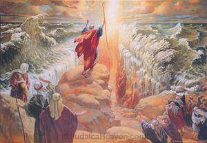 Moses splitting the Red Sea
