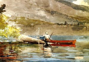 800px-The Red Canoe Winslow Homer 1889