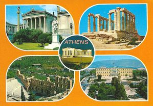 carte athènes