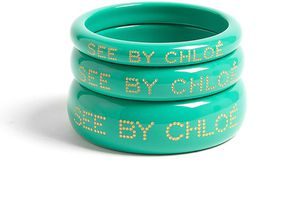 see-by-chloe-mint-acrylic-embossed-bangles-product-1-961344