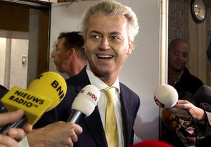 Geert Wilders sortie du tribunal