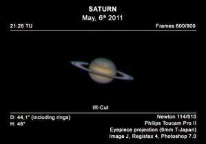 Saturno 6 mag 2011