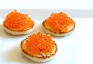 Blinis caviar rouge