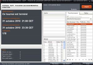 resultat freeroll ouverture