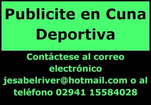 Publicite en Cuna Deportiva
