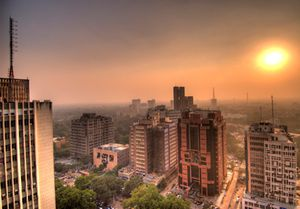 connaught-place-sunset new delhi