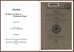France, her influence and aid in our Revolutionary struggle