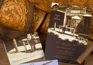 idées invitation mariage country