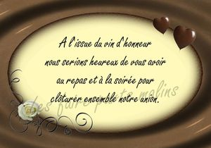 Exemple coupon reponse invitation mariage