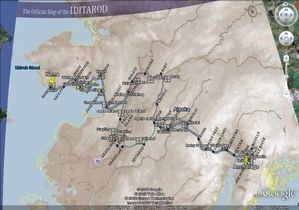 Map of the Iditarod on Google Earth