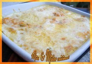 Gratin de potiron aux 3 fromages