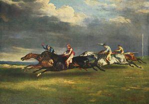Géricault le derby d'epson 1821 h-t 91 x 122 cm louvre