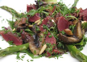 Salade asperges gsiers de canard et champignons (2)