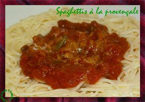 spaghettis provençale
