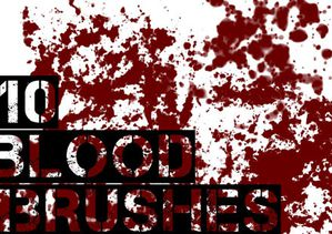 b-gimp blood brushes