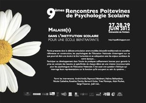 rencontres poitevines psychologie scolaire 2010 Stains