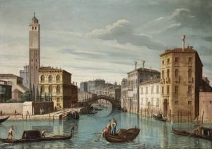 bellotti pietro-the entrance to the canareggio venice