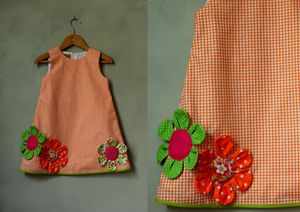 Robe fleurie orange jpg