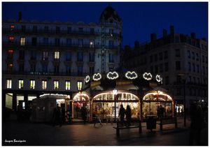 Lyon by night Place des jacobins