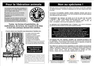 Tract libération animale manifestations mensuelles version