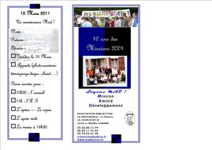 Tract3 10 ans missions 2001 +AG MAD 2011