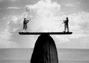 Gilbert Garcin équilibre