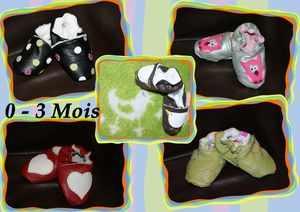 Chaussons 0-3mois