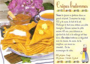 Recette Carte Postale Crepes Bretonnes Far Breton Galettes