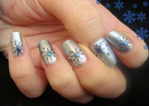 nail art flocon de neige