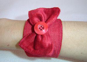 bracelet noeud vlour rouge1