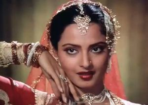 Rekha's eyes