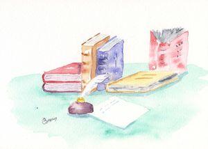 dessin de bernadette pour diplome copie