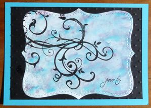 carte top notes encre alcool turquoise