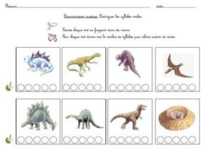 lecture dino syllabes
