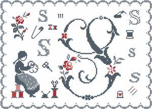 CE0096S - Fleurs de Lettre - S G