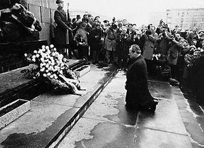 willybrandt 7 dec 1970 Ghetto Varsovie