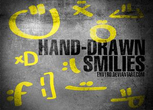 b-hand-drawn smilies