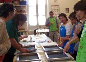 impression et peinture sur soie 3