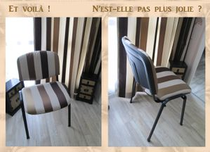 comment recouvrir des chaises finest il ne reste plus quu revisser luassise sous la chaise et. Black Bedroom Furniture Sets. Home Design Ideas