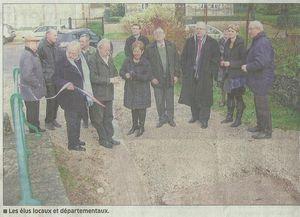 Inauguration du pont de Cisaumont 210-12-2011