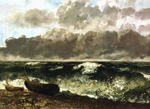 courbet la vague