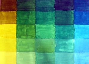 nuancier jaune- bleu