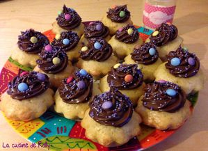 cupcakes smarties plat