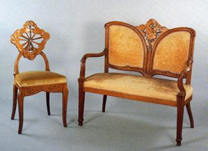 Gallé - canapé et chaise - 1902434