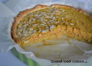 tarte carottes pdt curry amandes