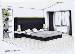 Avant apr s trait 39 perso for Dessin chambre en perspective