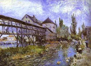 Le moulin Provencher - Alfred Sisley